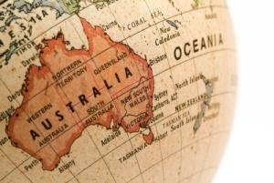 Australia-globe