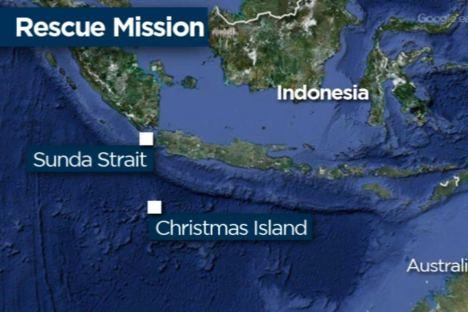 کشتی لنج نقشه اندونزی کریسمس آیلند