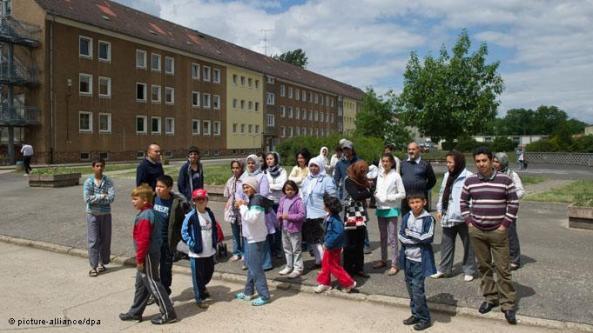 یک خوابگاه پناهجویان در ایالت براندنبورگ آلمان