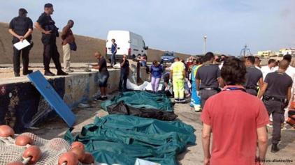 اجساد پناهجویان غرق شده