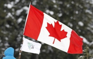 canada flag stand