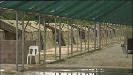 Nauru detention centre tents