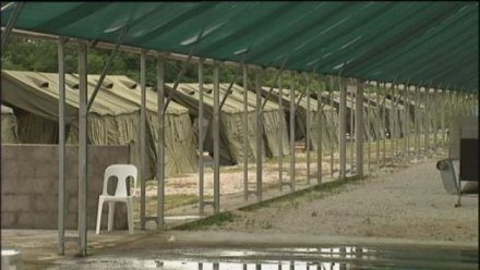 Nauru detention centre tents